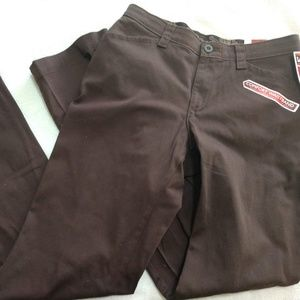 Lee dress pants, brown size 6, NWT
